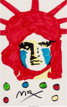 62382: Peter Max (American, b. 1937) Liberty  Marker on