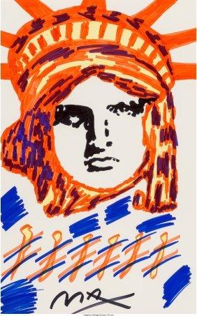 62383: Peter Max (American, b. 1937) Liberty  Marker on