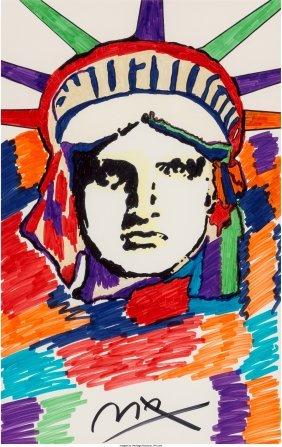 62384: Peter Max (American, b. 1937) Liberty Marker on