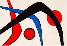 62320: Alexander Calder (American, 1898-1976) Les trois