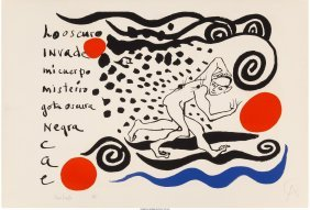 62321: Alexander Calder (American, 1898-1976) Lo oscuro