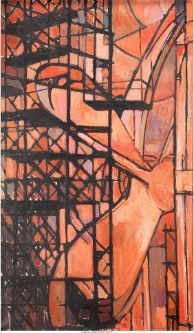 62326: Continental School (20th Century) Untitled (Scaf