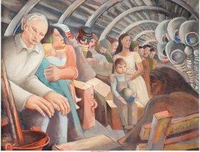 62245: Dane Chanase (American/Italian, 1894-1975) Crowd