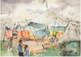 62246: Lois Green Cohen (American, 1919-2012) Circus El