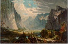 62152: American School (19th Century) Valley Landscape