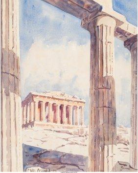 62153: Carl Oscar Borg (American, 1879-1947) Parthenon