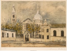 62437: Maurice Utrillo (French, 1883-1955) Eglise Saint