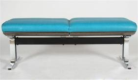 Attrib. to Thonet Chrome/Steel Two-Seat Bench