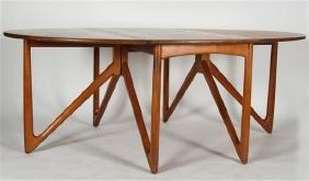 Kurt Ostervig (1912-1986) Drop-Leaf Dining Table