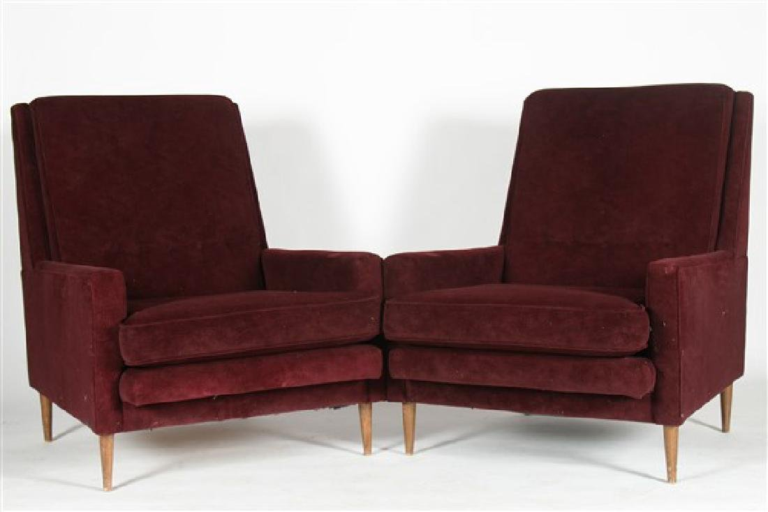 Pair of Lounge Chairs in style of Milo Baughman