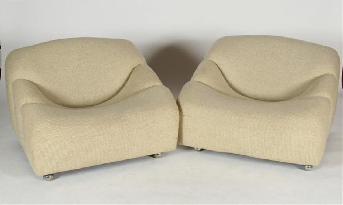 Two Pierre Paulin for Artifort ABCD Lounge Chairs