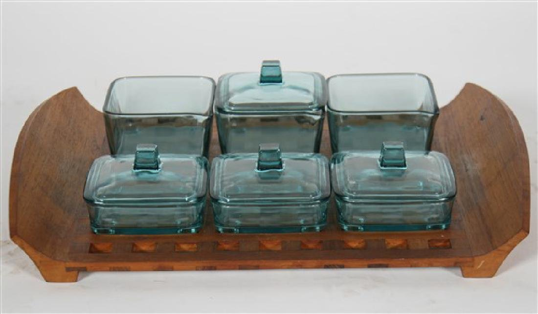 Jens Quistgaard for Dansk Tray & Glass Containers