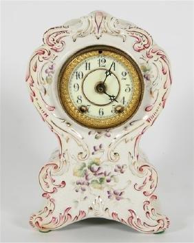 Waterbury Porcelain Parlor Mantel Clock