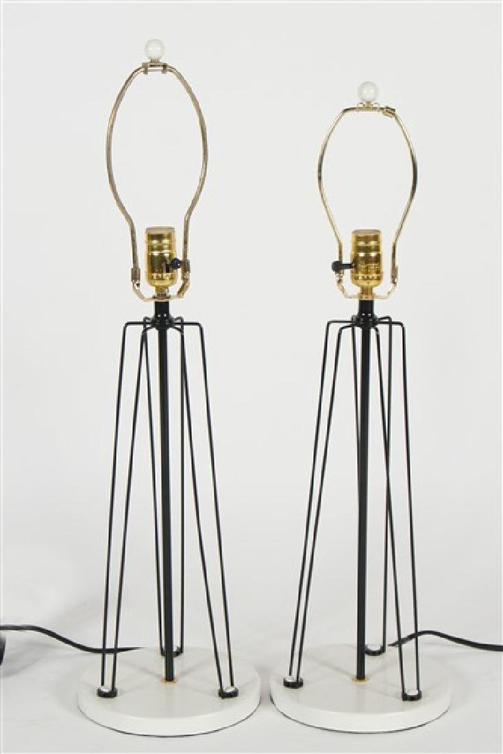 Pair of Wire Form Table Lamps