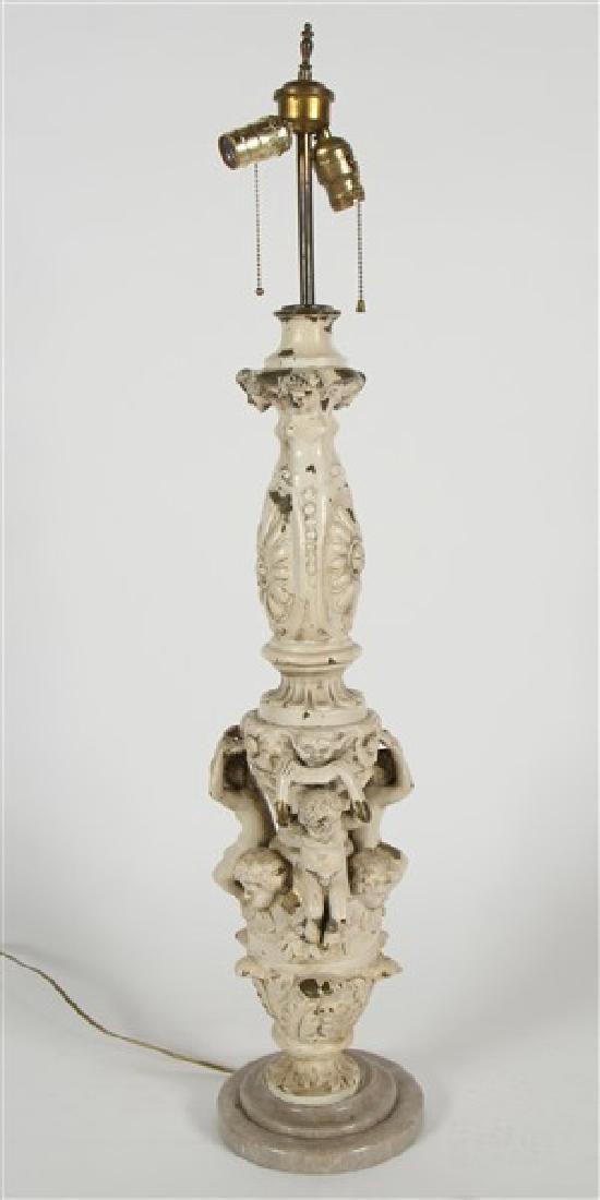 Italian Bronze Figural Table Lamp