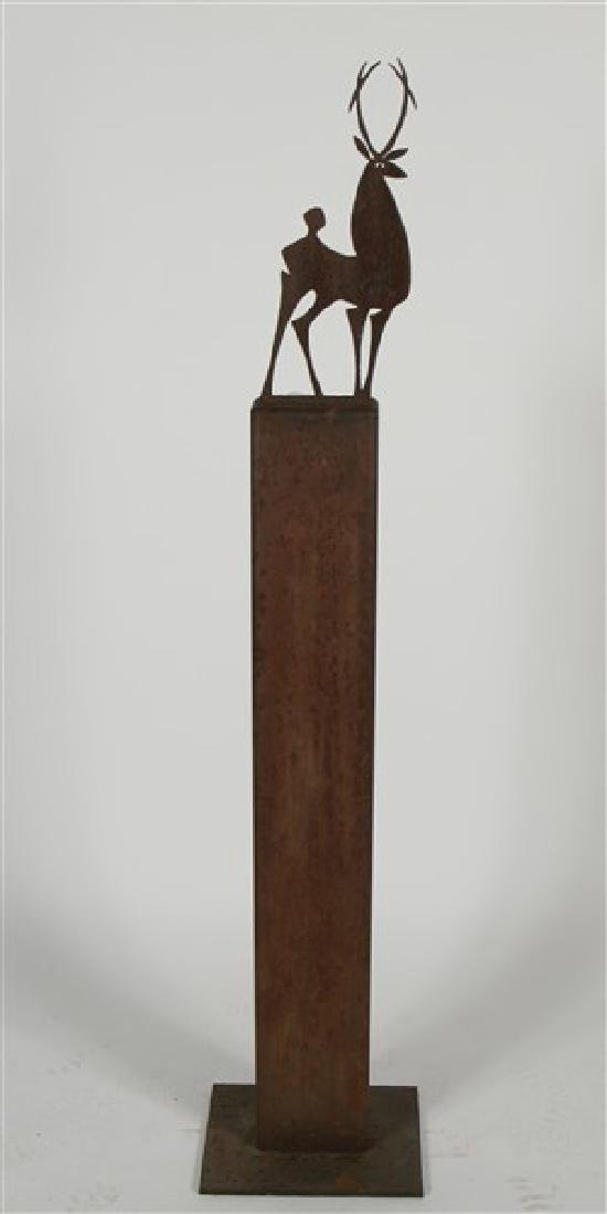 Bruce Mainquist (20th Cent.), Deer Sculpture