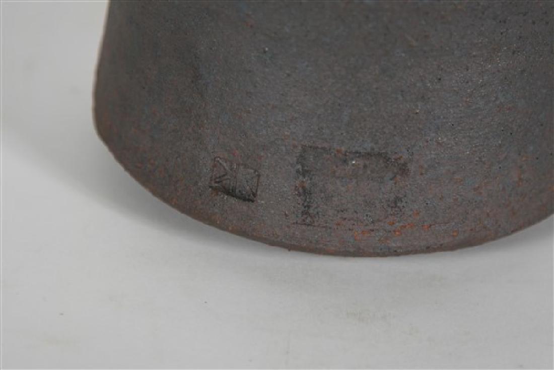 Karen Karnes, Black Two-Spout Stoneware Vessel - 3