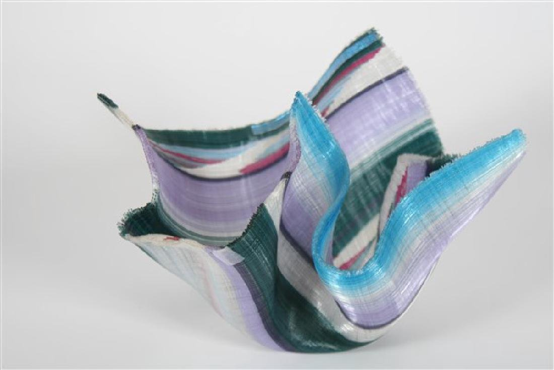 Carole Perry (20th C.), Tapestry Studio Glass Vase
