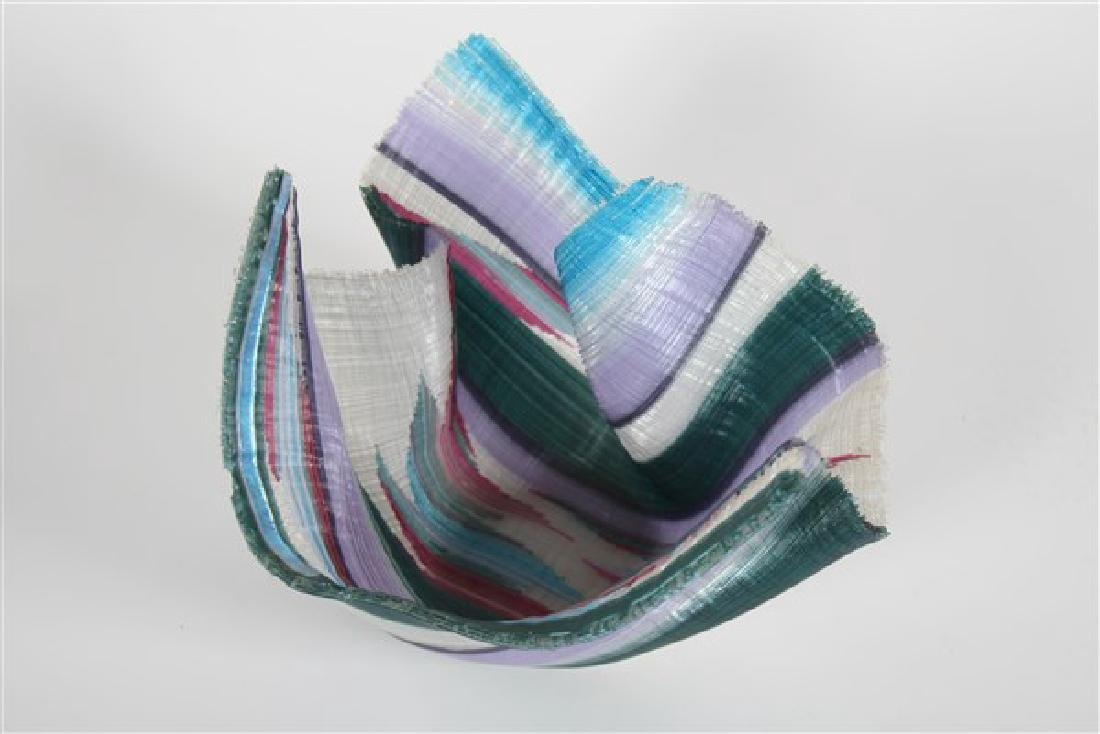 Carole Perry (20th C.), Tapestry Studio Glass Vase - 2