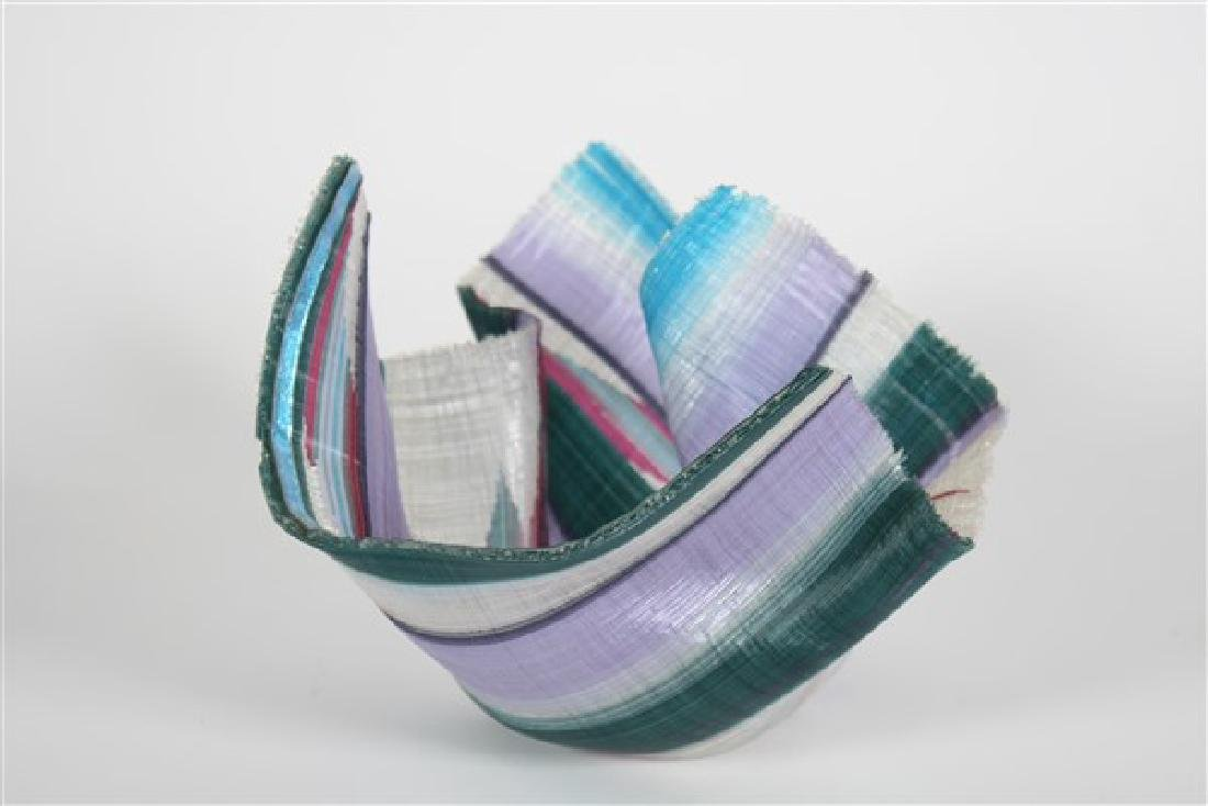 Carole Perry (20th C.), Tapestry Studio Glass Vase - 3