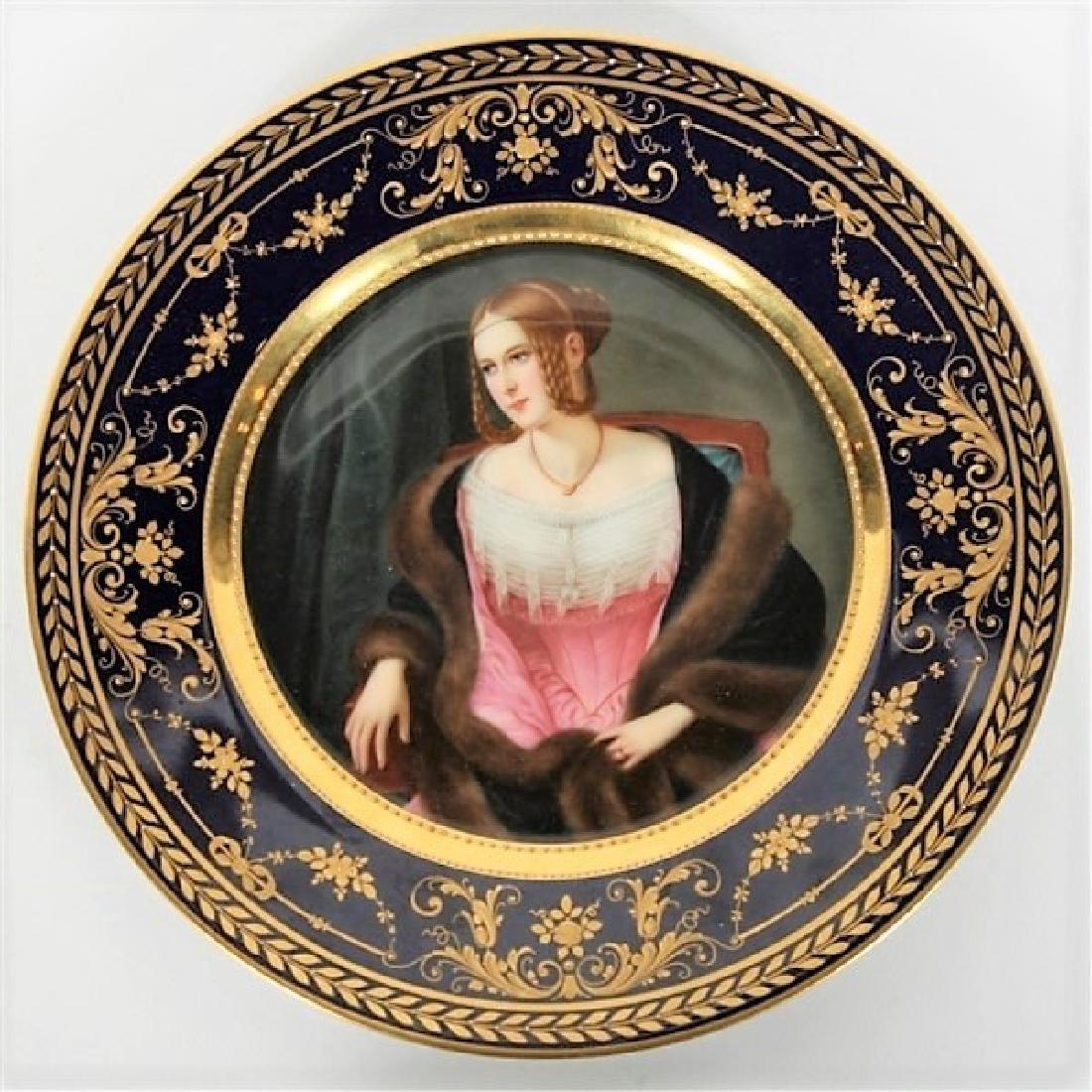Hutschenreuther Porcelain Portrait Cabinet Plate