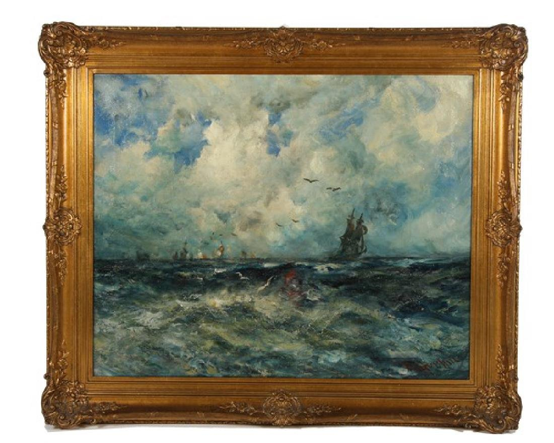 "Robert Hopkin (American, 19th C), ""The Harbor Bar"""