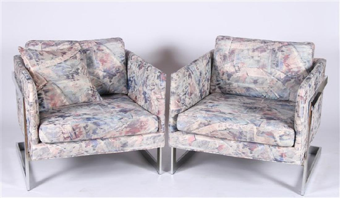 Style of Milo Baughman, Pair of Lounge Chairs