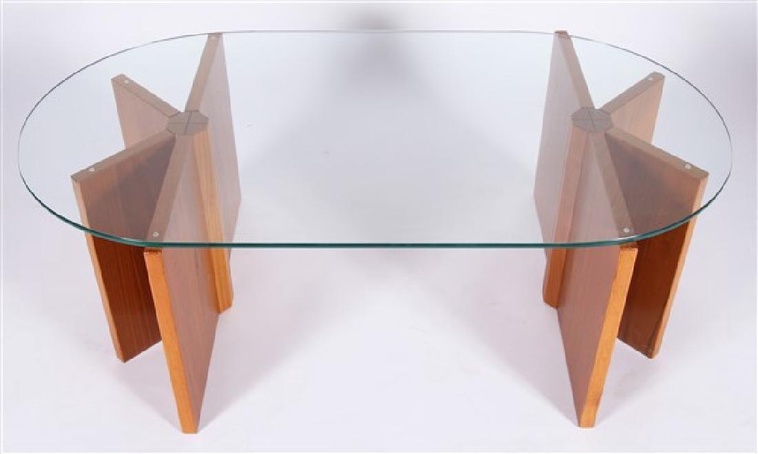 Modern Geometric Wood Coffee Table