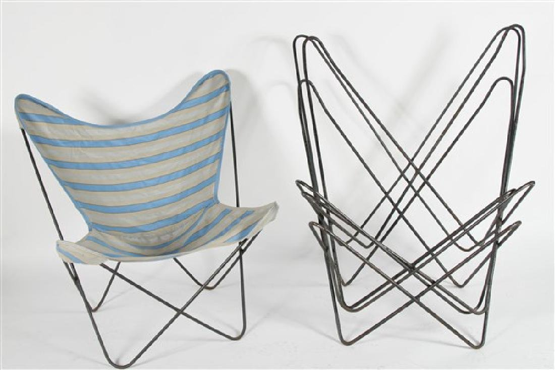 Four Hardoy for Knoll Butterfly Chairs
