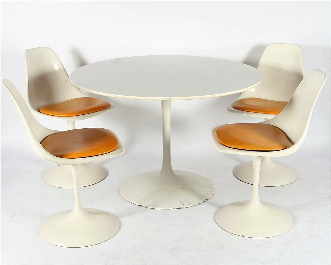In the Style of Saarinen, Dining Table & Chairs