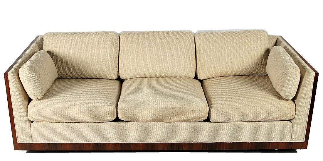Style of Milo Baughman Floating Case Sofa