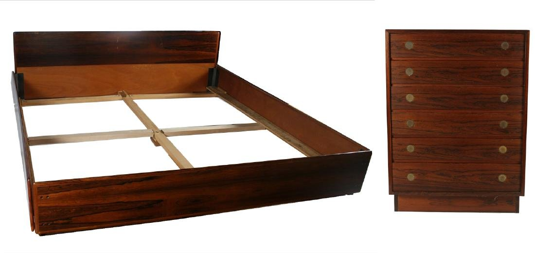 Dyrlund-Smith Rosewood Dresser and Bed Frame