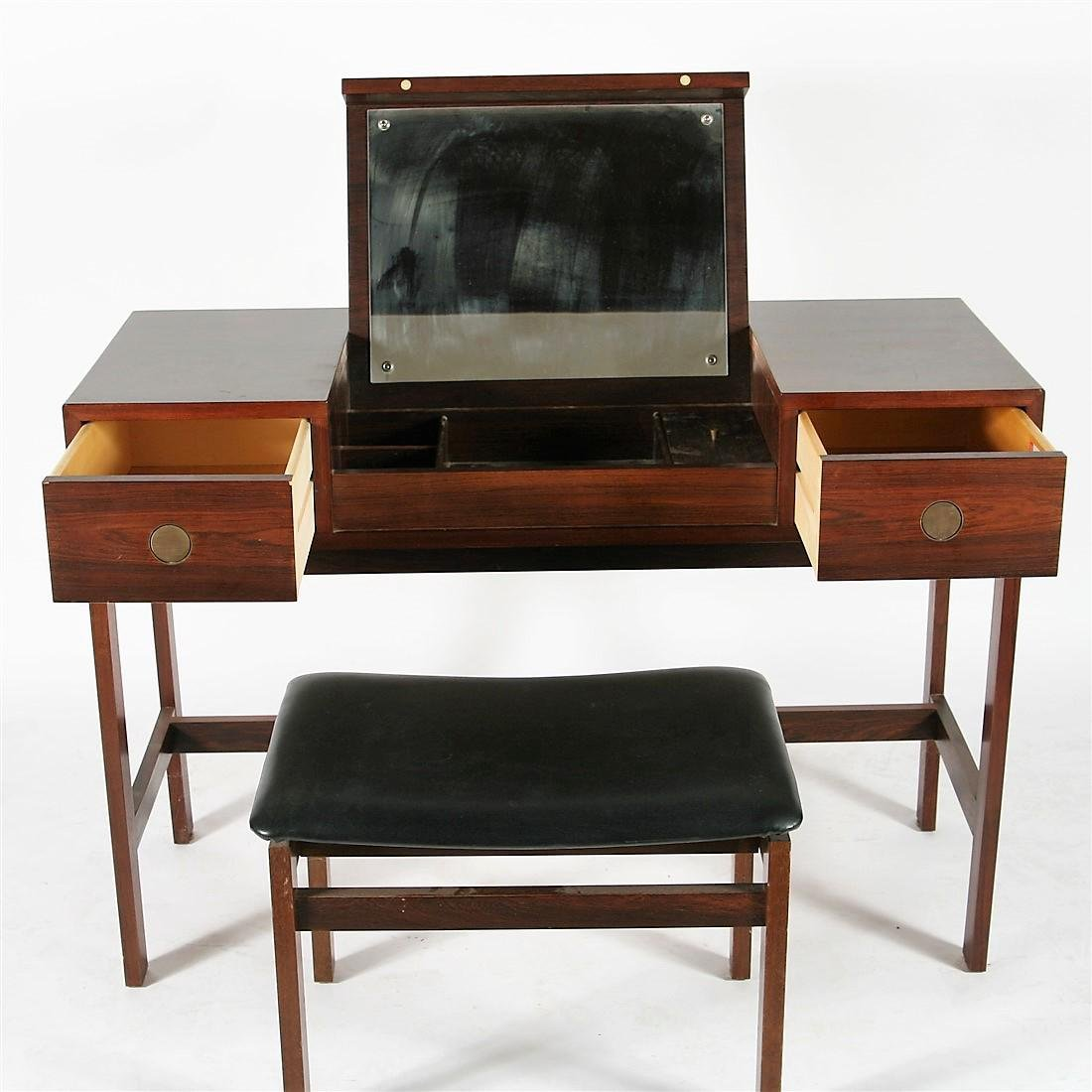 Dyrlund-Smith Modern Rosewood Vanity with Bench