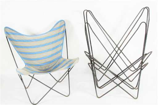 Set of Four Hardoy for Knoll Butterfly Chairs
