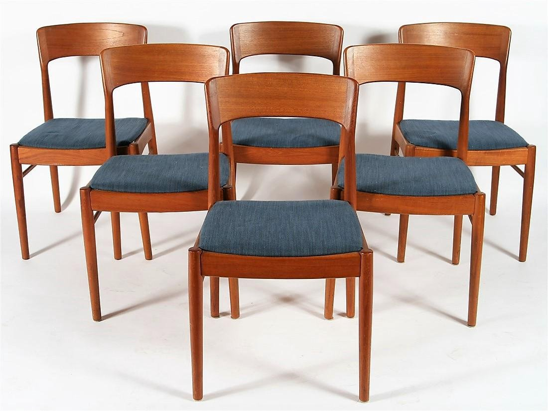 Set of Six Korup Stolefabrik Teak Dining Chairs