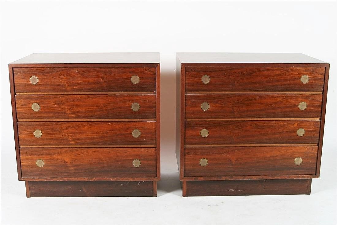 Pair of Dyrlund-Smith Modern Rosewood Dressers
