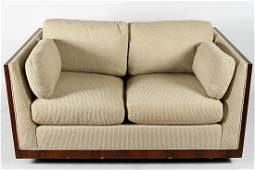 Style of Milo Baughman Floating Case Loveseat