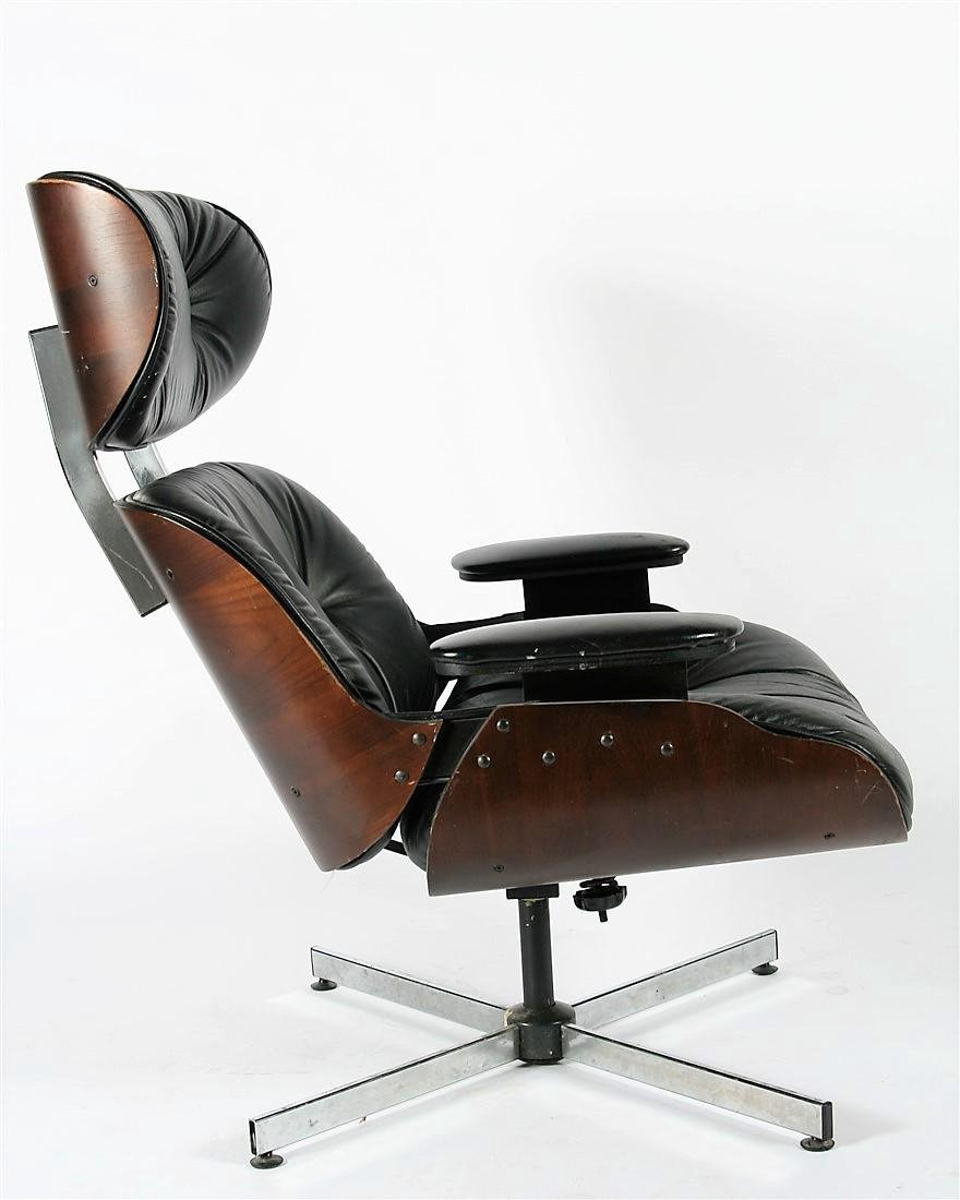 Plycraft, Eames-style Black Lounge Chair