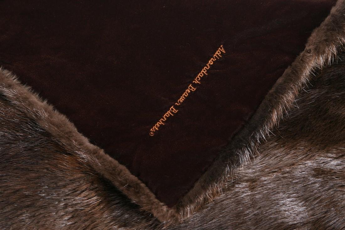Adirondack, Beaver Fur Throw Blanket