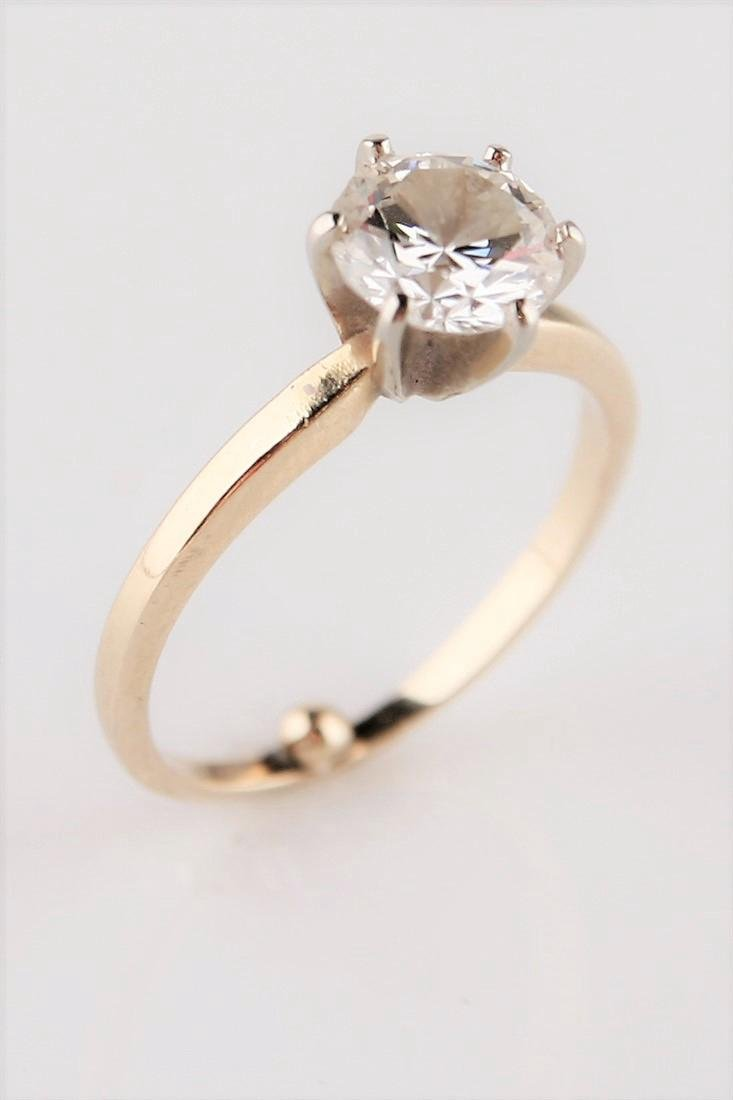 14k Yellow Gold and 1.52 ct Diamond Solitaire Ring
