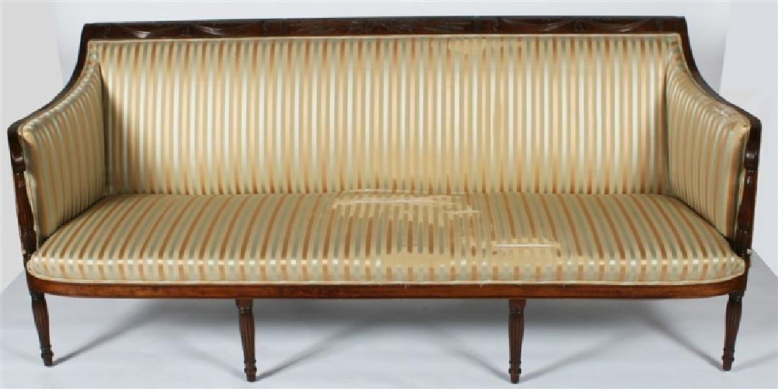 Early 19th C. Duncan Phyfe Period Mahogany Sofa