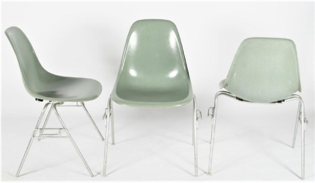 Three Gray Herman Miller DSS Stacking Chairs
