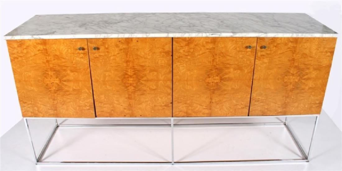 Milo Baughman (American), Burl Wood Sideboard