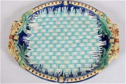 Wedgwood (British), Majolica-ware Napkin Tray