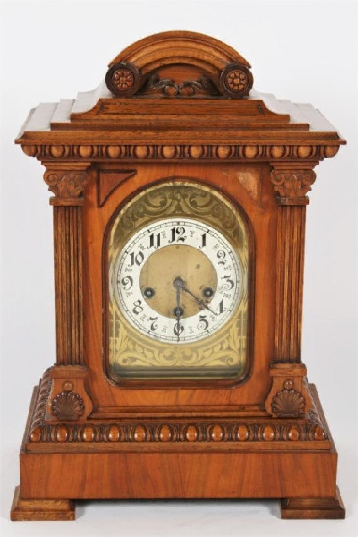 Junghans, Carved Oak Bracket Clock