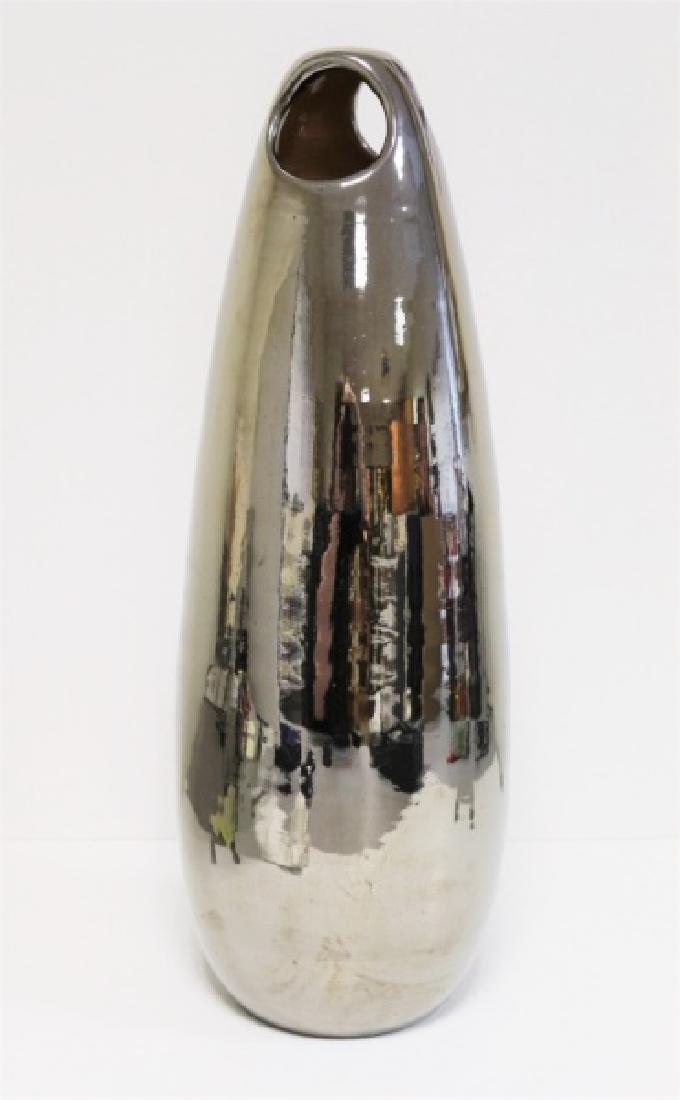 Italian Ceramic Vase with Metallic Glaze