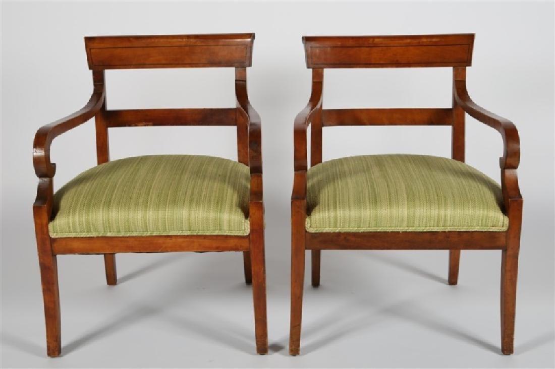 Pair of Biedermeier-style Wooden Chairs