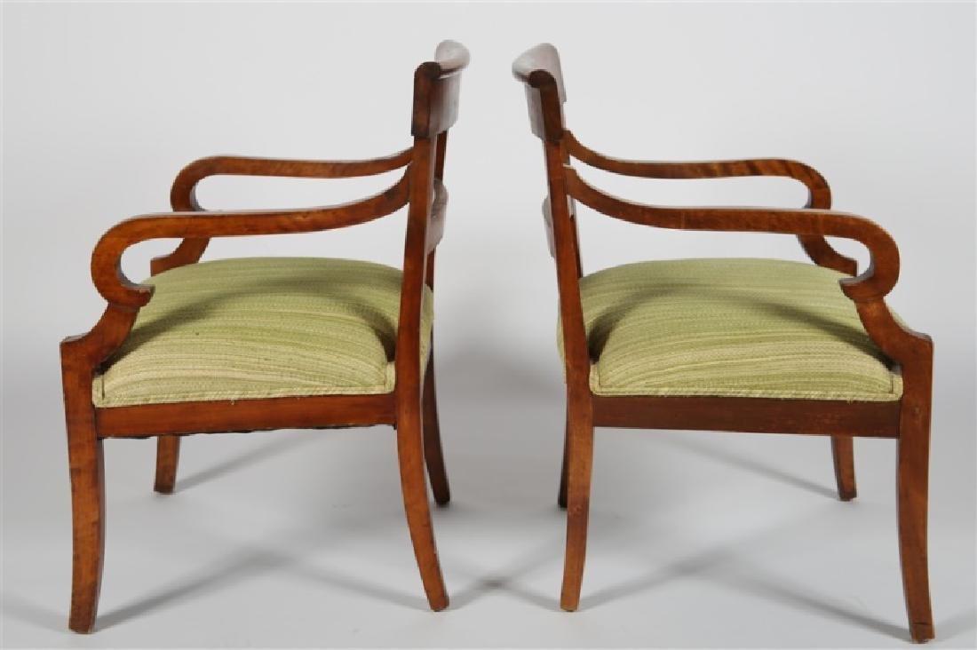 Pair of Biedermeier-style Wooden Chairs - 2