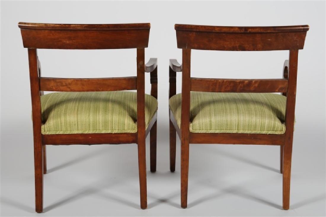 Pair of Biedermeier-style Wooden Chairs - 3