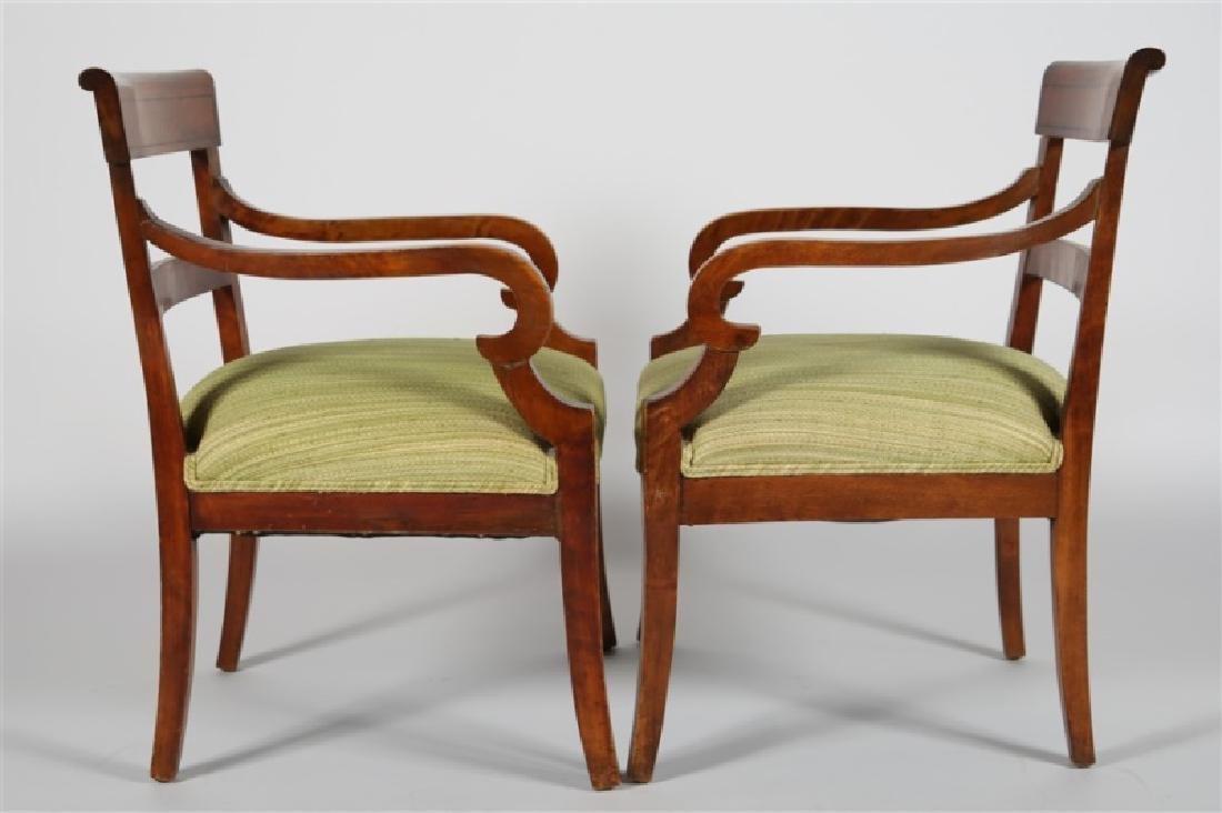 Pair of Biedermeier-style Wooden Chairs - 4